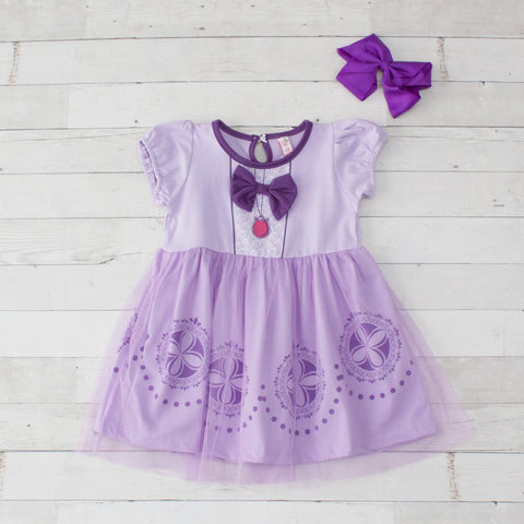 Girls Character Inspired Dress - Sofia the First