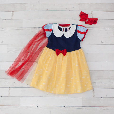 Girls Character Inspired Dress - Snow White