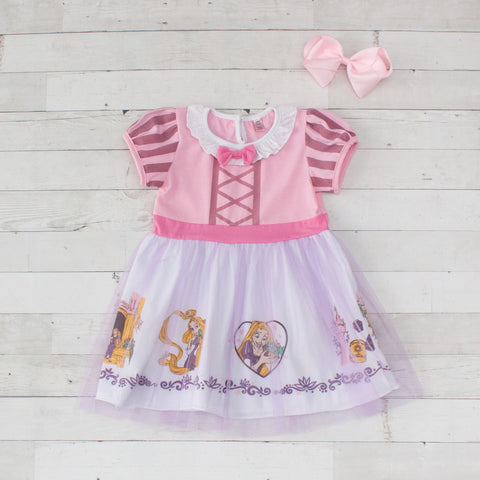 Girls Character Inspired Dress - Rapunzel (Tangled)