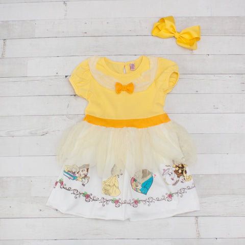 Girls Character Inspired Dress - Belle (Beauty and the Beast)