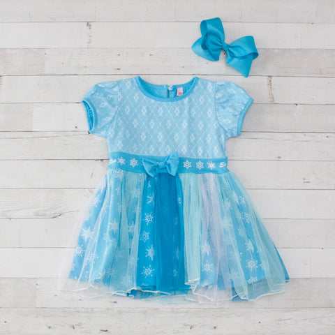 Girls Character Inspired Dress - Elsa (Frozen)