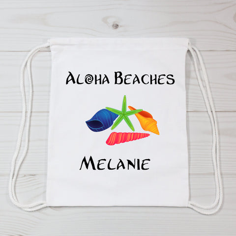 Aloha Beaches Personalized Canvas Bag