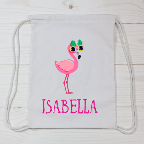 Flamingo Personalized Canvas Bag