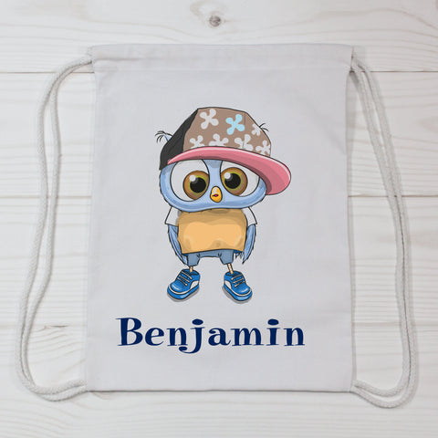 Cool Owl Personalized Canvas Bag