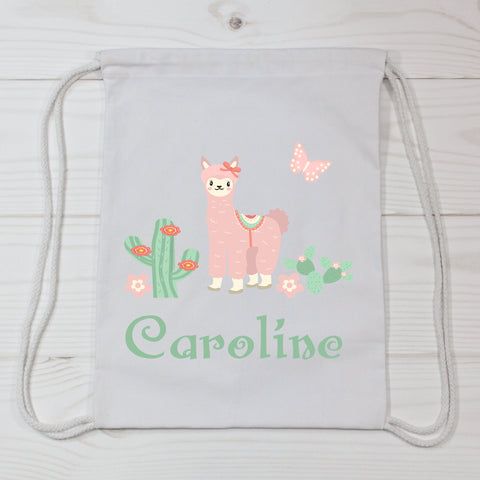Llama Personalized Canvas Bag