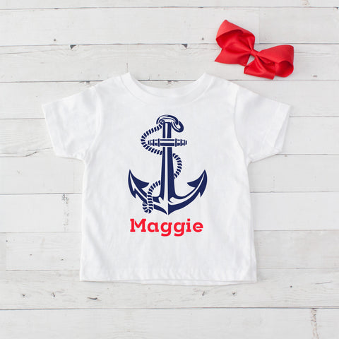 Sea Anchor Personalized Graphic T-Shirt