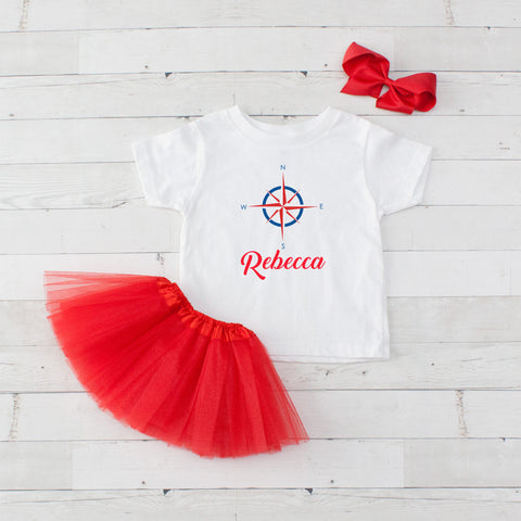 Compass - 3pc Personalized Graphic Shirt and Tutu Set