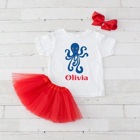 Octopus - 3pc Personalized Graphic Shirt and Tutu Set