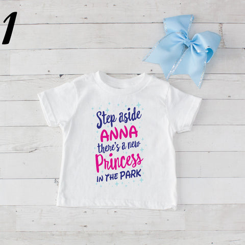 Step Aside Anna - 2 pc Park Princess Graphic Shirt & Bow