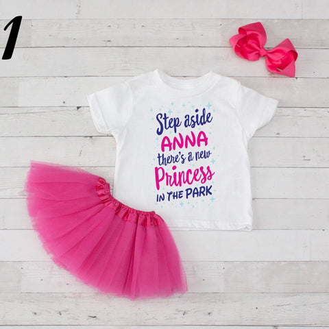 Step Aside Anna - 3 pc Park Princess Graphic Shirt & Tutu Set
