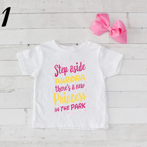 Step Aside Aurora - 2 pc Park Princess Graphic Shirt & Bow
