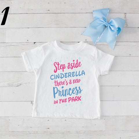 Step Aside Cinderella - 2 pc Park Princess Graphic Shirt & Bow