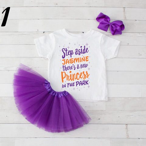 Step Aside Jasmine - 3 pc Park Princess Graphic Shirt & Tutu Set