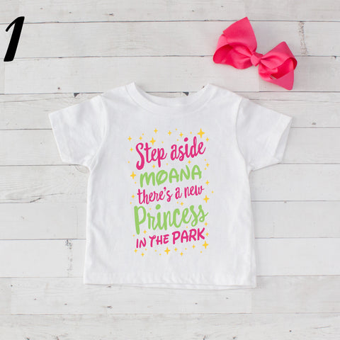 Step Aside Moana - 2 pc Park Princess Graphic Shirt & Bow