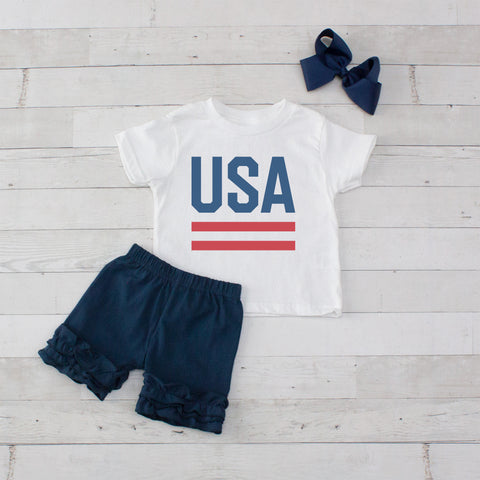 USA - 3pc Shirt and Short Set