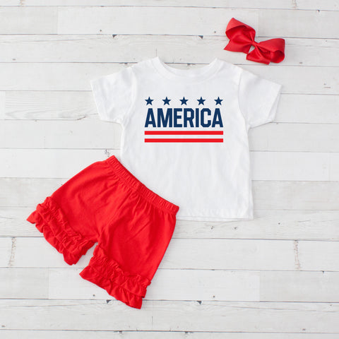 America - 3pc Shirt and Short Set