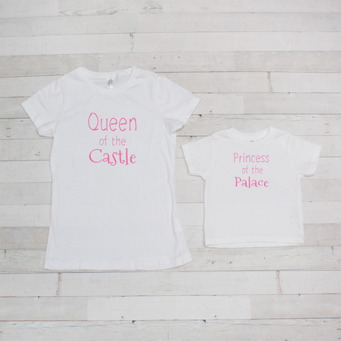 Mommy & Me Tee Set - Castle/Palace - Includes Both Shirts