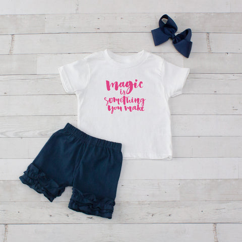 Magic Is Something You Make - 3pc Shirt and Short Set