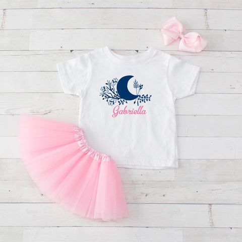 Moon - 3pc Personalized Graphic Shirt and Tutu Set