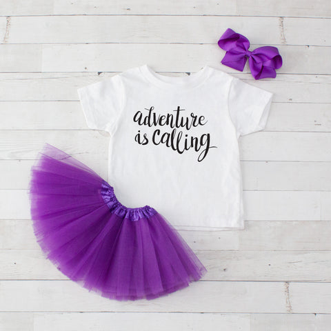 Adventure Is Calling - 3pc Shirt and Tutu Set