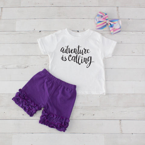 Adventure Is Calling - 3pc Shirt and Short Set