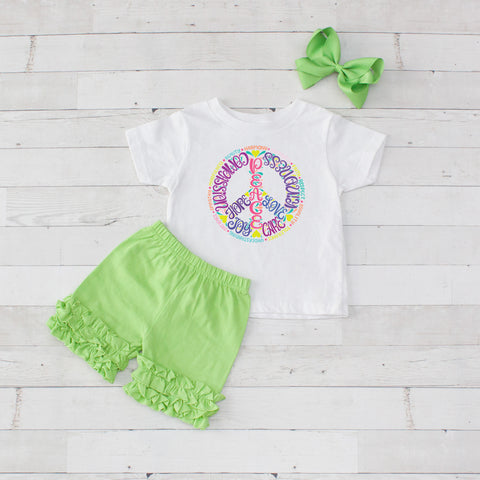 Inspirational Peace - 3pc Shirt and Short Set