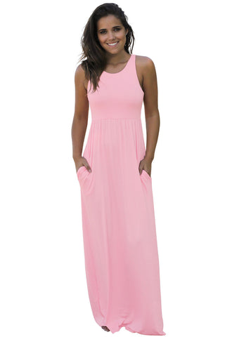 Racerback Maxi Dress with Pockets