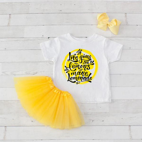 If Life Gives You Lemons.. - 3pc Shirt and Tutu Set - 3 Color Variations