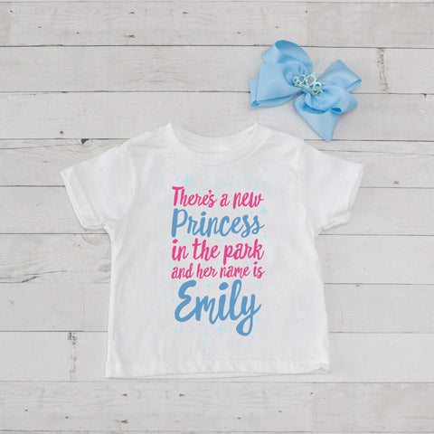 There's A New Princess In The Park...Personalized Graphic T-Shirt