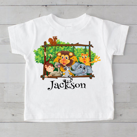 Jungle Pals Personalized Graphic T-Shirt