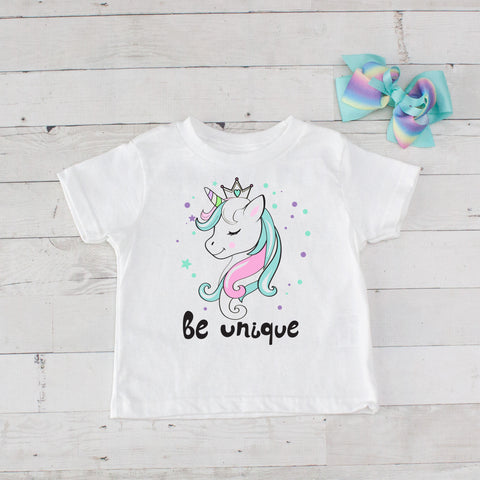 Be Unique Unicorn Graphic T-Shirt