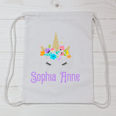 Princess Unicorn Personalized Canvas Bag