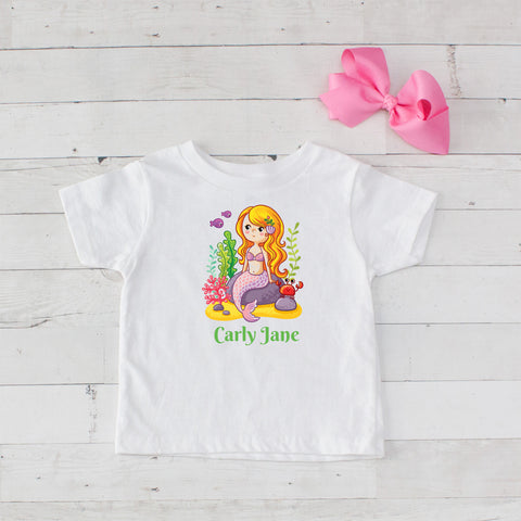 Little Mermaid Personalized Graphic T-Shirt