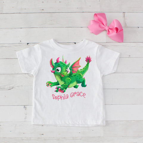 Baby Dragon Personalized Graphic T-Shirt