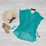 Crochet Knitted Tassel Tie Kimono Beach Cover Up - 8 Colors
