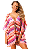Multicolored Boho Print Beach Cover Up - 2 Colors