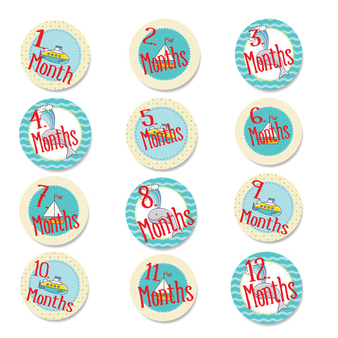 Baby Monthly Stickers - Out to Sea