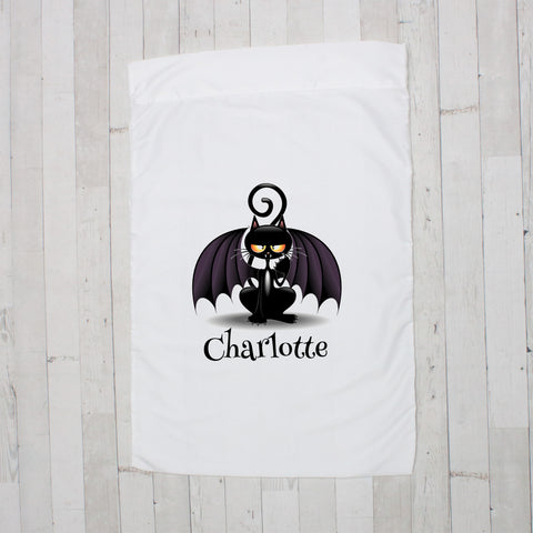 Bat Cat Personalized Pillowcase