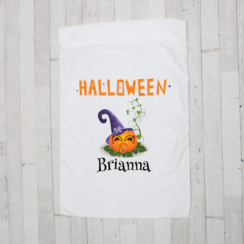 Halloween Baby Jack O' Lantern Personalized Pillowcase