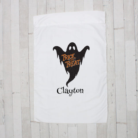 Trick Or Treat Ghost Personalized Pillowcase