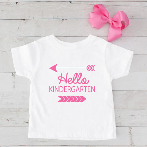 Hello Kindergarten Graphic T-Shirt Set