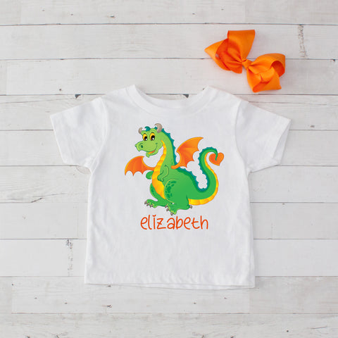 Happy Dragon Personalized Graphic T-Shirt