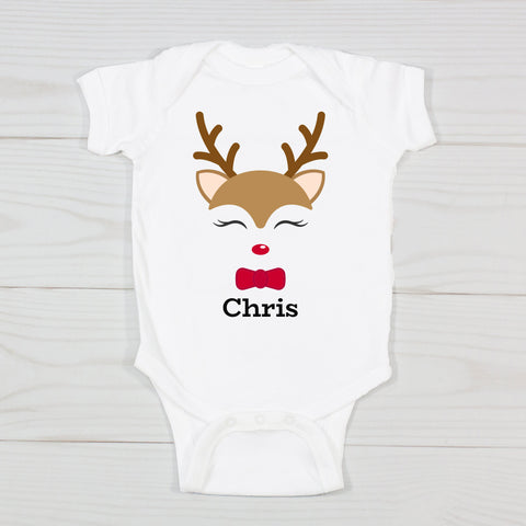 Boy Reindeer Personalized Bodysuit