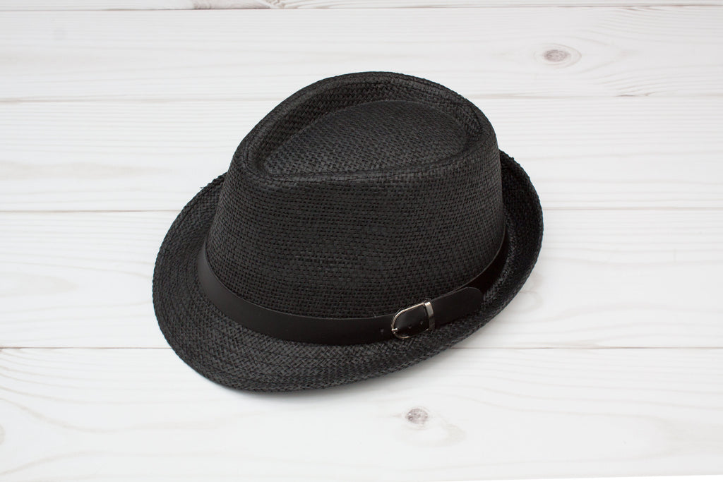 ff7285a020b6c Women s Black Fedora with Black Buckle Band – Wholesale Princess