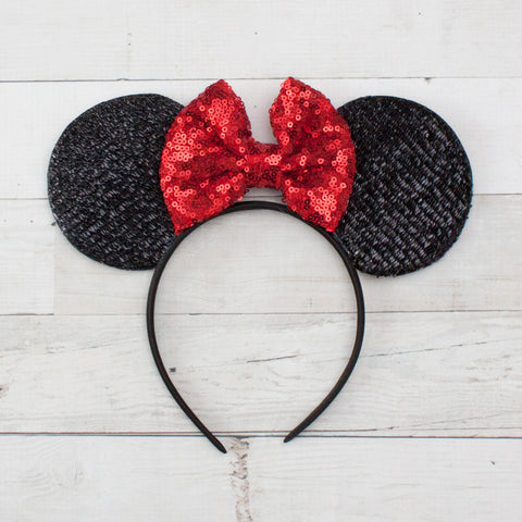 Sequin Minnie Mouse Ears Headband