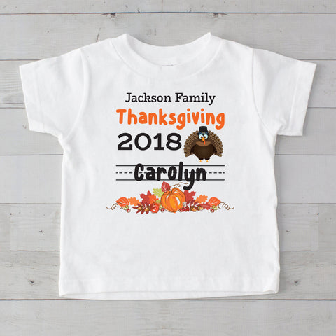 Thanksgiving 2018 Personalized Graphic T-Shirt