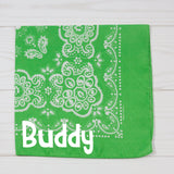 Floral Design Personalized Pet Bandana - 8 Colors