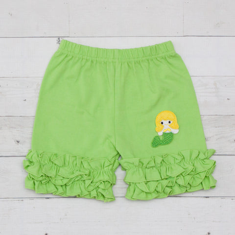 Mermaid Lime Ruffle Shorts