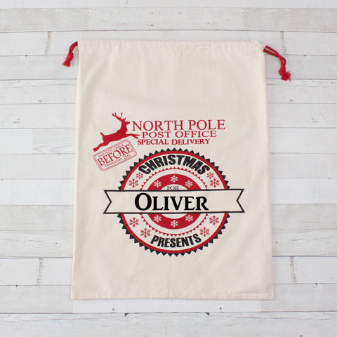 North Pole Special Delivery Giant North Pole Gift Bag - Personalized