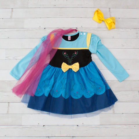 Girls Character Inspired Dress - Anna